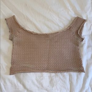 Light pink free people crop top